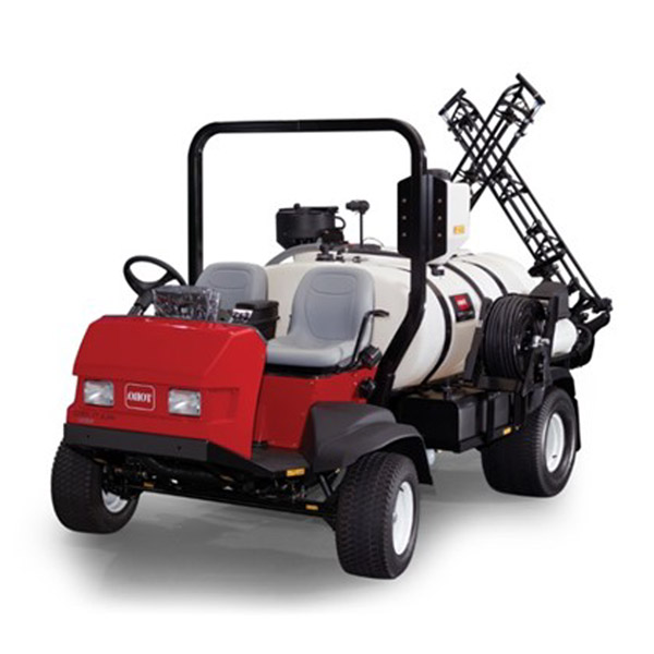 Spraying Turf with Baileys Commercial Turf Care Services