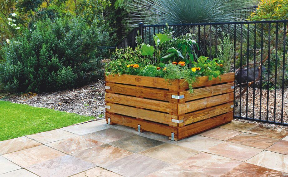 Wooden Crate Vegetable Patch