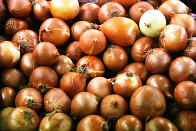 Brown Onions Piled Up
