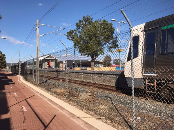 Transperth Railway Station And Train
